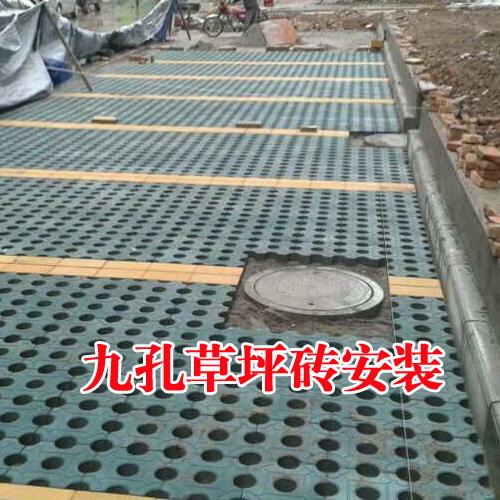 草坪砖铺装安装施工