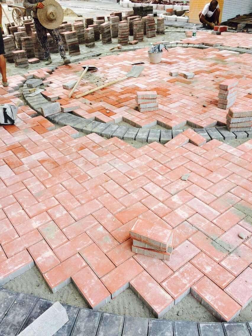 西安 马路砖施工