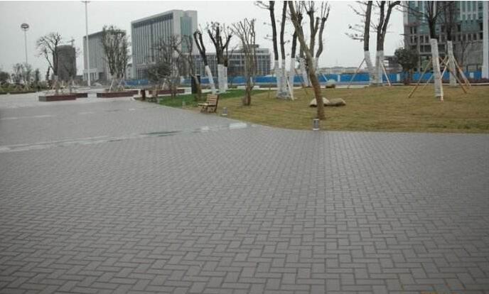 室外渗水砖地面道路的 施工